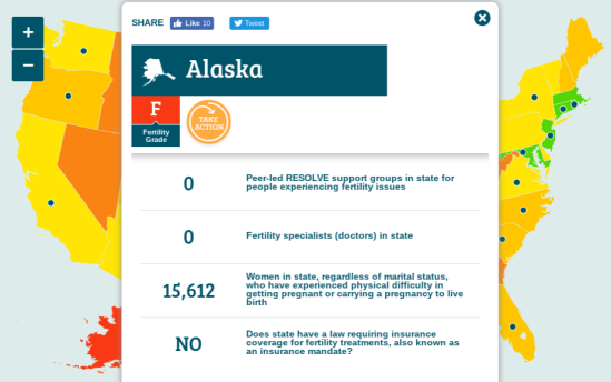 Resolve.com Fertility Score Card Alaska